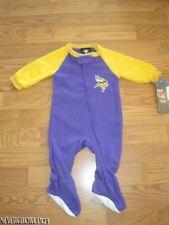 MINNESOTA VIKINGS BABY BOY FLEECE SLEEPER~0-3M~3-6M~NWOT