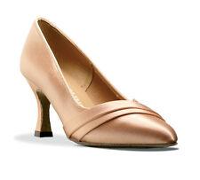 Noir, blanc ou chair tan satin latin ballroom dance shoes par topline Sasha