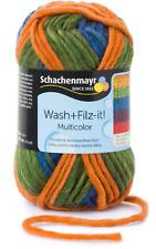 6,50€/100g Wash+Filz it! Filzwolle multicolor 50 g Schachenmayr knallige Farben