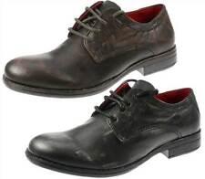 Garçons en cuir de paperasserie WOOLER bout rond lacets l'école formelle chaussures casual