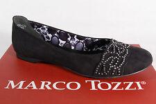Marco Tozzi Ballerinas Slippers schwarz, Kunstleder   NEU!