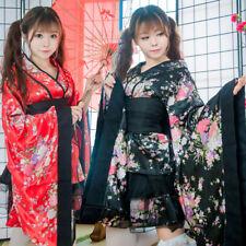 Lolita Sakura Kimono Yukata Maid Dress Outfit Uniform Anime Cosplay Costumes Hot