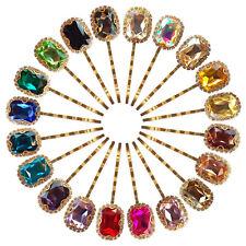 LUXURY Pair Diamante Crystal Kirby Bobby Slide Grips Clip Wedding Hair Pins