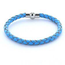 Lieblingsmensch® Armband Lederarmband 0,5cm geflochten Farbe: hellblau