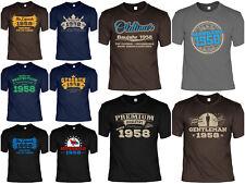 T-Shirt 60 Geburtstag - 60 Jahre Coole Sprüche Motive Geburtstag 1958 - für 2018