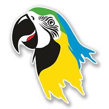 2 x Parrot Sticker Car Bike iPad Laptop Guitar Decal Bird Tropical Island #4157