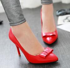 Décollte Scarpe decolte eleganti donna tacco spillo 9 cm stiletto rosso 9183