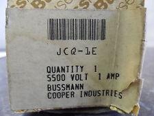 NEW BUSSMANN COOPER BUSS JCQ-1E HIGH VOLTAGE FUSE 1E 1A AMP 5500VAC 5.5KV 28393