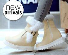 stivali stivaletti comodi scarpe donna beige pelo sintetico  simil pelle 8729
