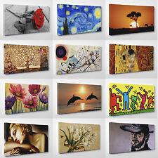 Quadri Moderni cm 50 x 100 Stampa su Tela con Vernice Pennellate Effetto Dipinto