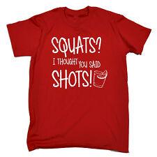 Sentadillas pensé que habías dicho disparos T-Shirt Stag Do gallina Beber Fiesta Regalo Padres Día