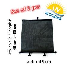 2 X Black Sun Cieco ROLLS-Protezione UV Sole Ombra - 45 & 50 cm-posteriore o laterale
