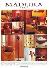 PUBLICITE ADVERTISING  2003 MADURA linge de maison, draps rideaux coussins