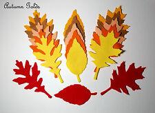 18 Die Cut Autumn Felt Leaves Leaf  Gold Shades Embellishments  Red Orange Brown
