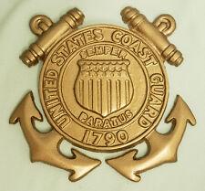 USCG UNITED STATES COAST GUARD SEMPER PARATUS 1790 CREST INSIGNIA AWARD PLAQUE