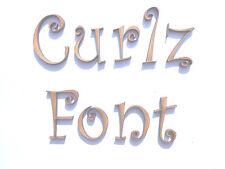 CURLZ FONT WOODEN LETTERS lettering words craft card wall art door sign plaque