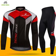 Team Men's Cycling Wear Long Sleeve Bike Bicycle Shirt Jersey Gel Pad Pants Set
