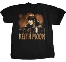 Keith Moon The Who T-Shirt, Black, New, 100 % cotton, L, XL, english rock
