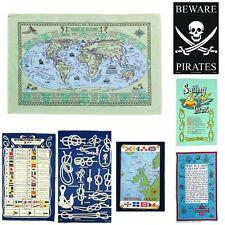Marine Galley Cloths - Nautical Cotton Tea Towel - Various Designs -  ZS24