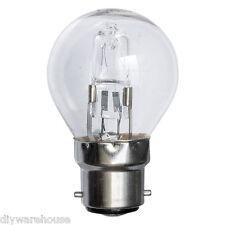 2, 5 OR 10 18W, 28W OR 42W ECO HALOGEN GOLF BALL LAMP BULB CLEAR B22 BC NEW