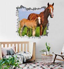 3D Cavalli Da Pascolo 361 Parete Murales Parete Adesivi Decal Sfondamento IT