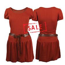 AMAVISSE UK - (RRP £15) Women Fashion Long Blouse Shirt One Piece with Belt