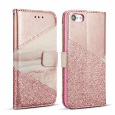 Handyhülle Glitzer Flip Case Cover Magnetic Schutz Hülle für iPhone Samsung