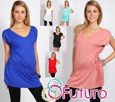 Classic Women's Tunic V Neck Cap Sleeve Dress Kimono Style Size 8-12 8252