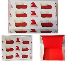 CHRISTMAS GIFT BOX LUXURY FOLDING GIFT BOX SANTA HAT & BOOTS BOX NEW