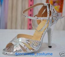 Ladies Rumba Latin Tango Ballroom Modern Salsa Dance Shoes Heels Sandals EU34-42