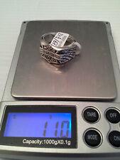 """Bague """"Big HexNut"""" HARLEY DAVIDSON en ARGENT massif 925 sterling SILVER ring NEW"""
