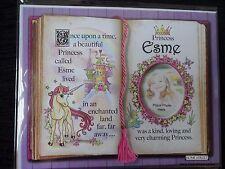Esme Principessa UNICORNO Mount Regalo Con Versetto e foto spazio-scegliere una cornice