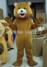 2019 Hot Halloween Adult Cartoon Brown Bear Mascot Costume Suit Party Game Dress