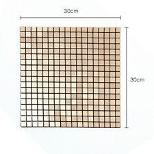 Mosaic Aluminum Backsplash Wall Tile Self Adhesive Peel and Stick Kitchen 12inch