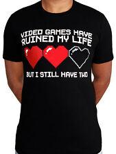 Video Games Lives Retro Classic Funny Meme Gamer Black Mens T-shirt