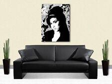 Amy Winehouse STAMPA su TELA-mozzafiato Incorniciato Wall Art-scegli taglia e colore