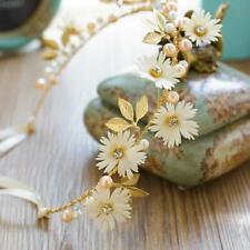 Braut Haarband Haargesteck Tiara Diadem Blume Haarreif Metall Flexibel  Satin