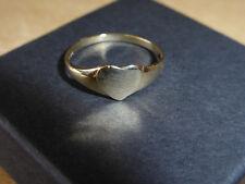 9CT  HEART signet ring FULL UK HALLMARK