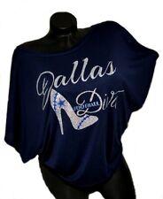 Dallas Football Diva with Sexy Heel on a Navy Flowy Draped Slv. Dolman Tee.