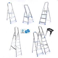 Leiter Aluleiter Einseitige Klappleiter Schale Haushaltsleiter 150kg 2-8 Stufen
