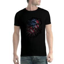 Teschio Bandiera Stati Uniti d'America Uomo T-shirt XS-5XL