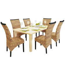 vidaXL Ensemble chaises de salle à manger cuisine 2/4/6 pcs Abaca Rotin Marron