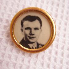Russian Cosmonaut Round Photo Pin Gagarin Nikolaev Titov Космонавт Гагарин