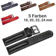 Uhrenarmband - echt Leder - Glatt - Diverse Farben und Stegbreiten