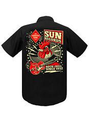 Record Hop Rockabilly Workshirt retro Herren Hemd Worker Shirt v. Sun Records