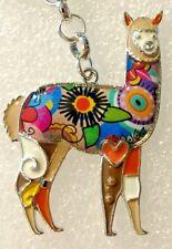Alpaca Multicolor Enamel Alloy Key Ring Keychain Purse Dangle Jewelry