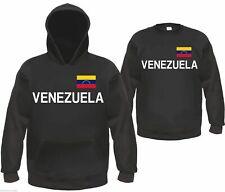 Venezuela sudadera o Hoodie-negro/blanco con bandera-talla s hasta 3xl