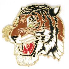 PinMart's Colored Mascot Tiger School Sports Enamel Lapel Pin