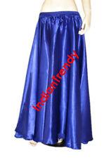 Royal Blue - Satin Maxi Skirt 4-5 Yard Belly Dance Tribal Half Circle Jupe Gypsy