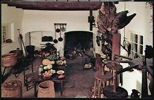 WINSTON SALEM NC Old Salem Tavern Kitchen Vtg Fireplace Cooking Hearth Postcard